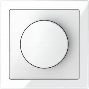 Der KNX-Drehdimmer ist aus der Schalterserie D-Life oder in Metallausführung aus dem M-Plan Schalterprogramm erhältlich. (Bild: Schneider Electric GmbH)