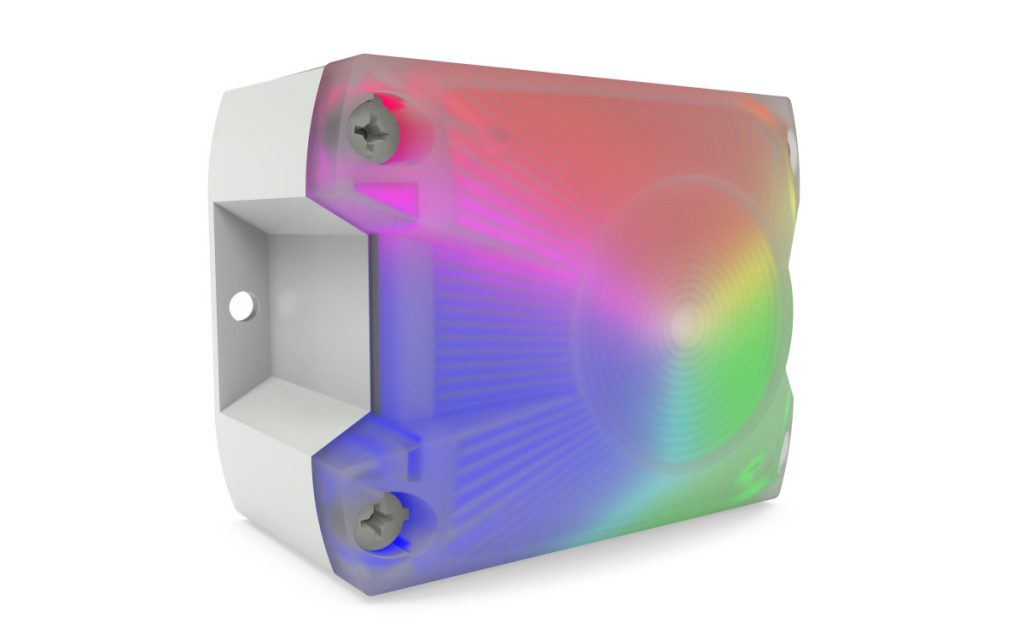 Die Pyra LED-RGB Leuchte ist direkt von der Kamera als Ampel steuerbar, über Plug&Play im Handumdrehen installiert und arbeitet sicher und automatisiert. (Bild: Pfannenberg Europe GmbH)
