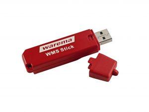 WMS Stick zur schnellen Übertragung der Daten an die WMS Empfänger (Bild: Warema Renkhoff SE)