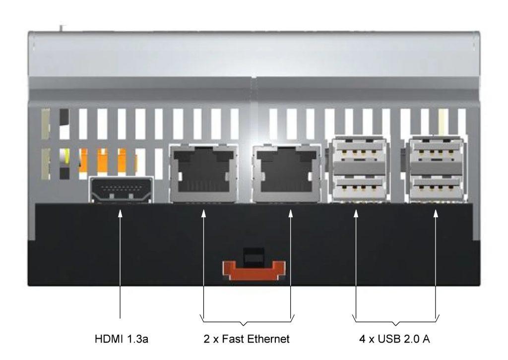 Dank seiner geringen Einbautiefe von 62,2 mm, kompakten Breite von 6TE (108 mm) und den oben zur Feldebene und unten liegenden PC-Schnittstellen findet der Raspberry Pi Rechner Smart Manager 4.0 in jedem Schaltschrank Platz. (Bild: STV Electronic GmbH)