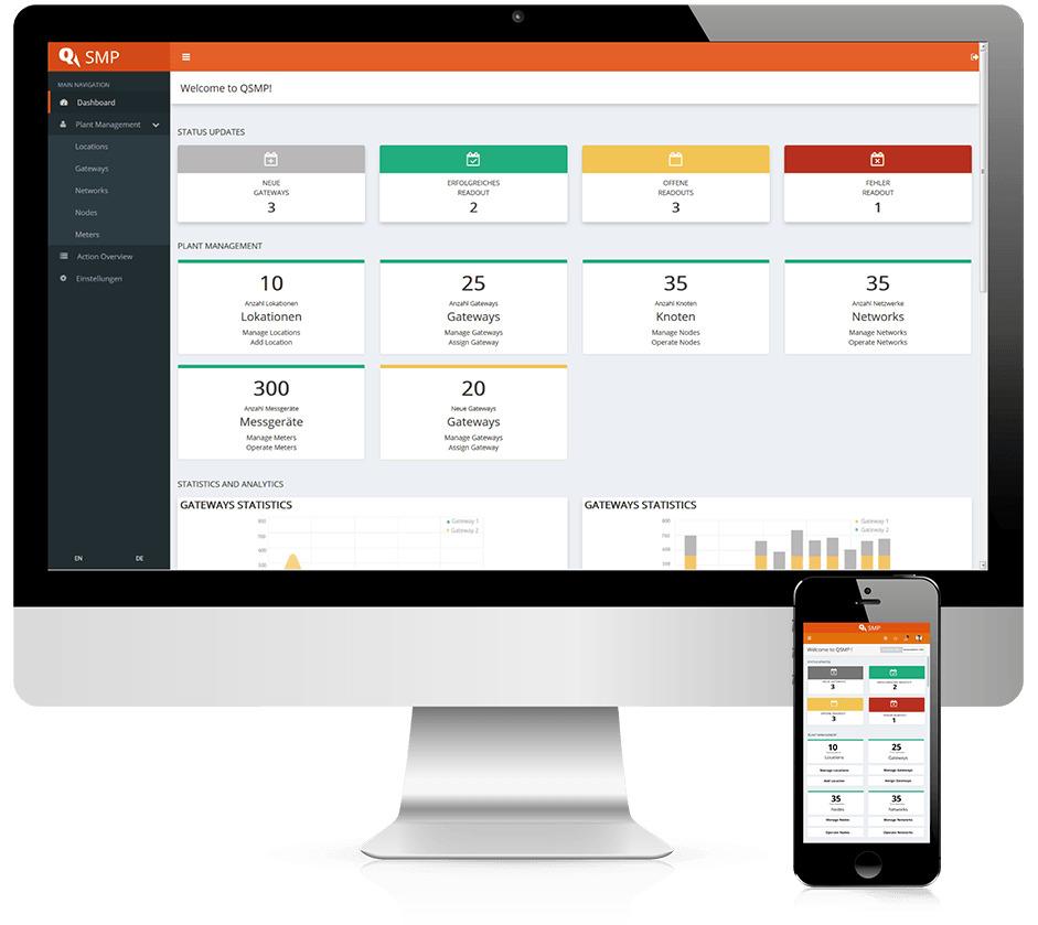 Mit der Smart Metering Plattform Q SMP werden Erfassungssysteme vom Büro aus bedient. (Bild: Qundis GmbH)
