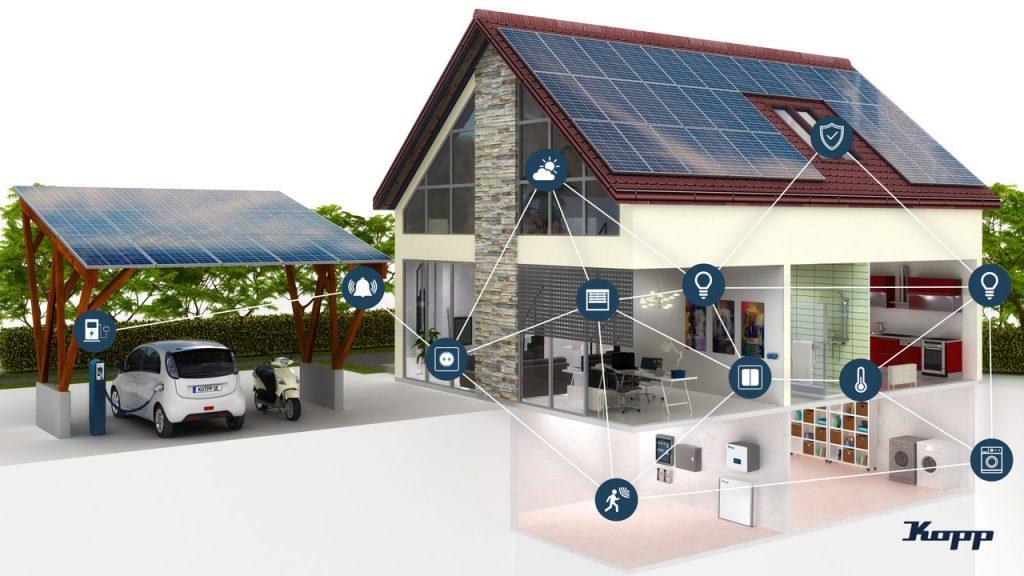 Das Smart-Home-System von Kopp baut sich dank Bluetooth-Mesh-Technologie selbstständig auf und hat eine extrem hohe Betriebssicherheit. (Bild: Heinrich Kopp GmbH)