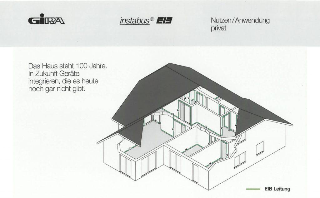 In einer Broschüre gibt Gira 1995 einen Vorgeschmack auf das zukunftssichere Smart Home mit KNX. (Bild: Gira Giersiepen GmbH & Co. KG)