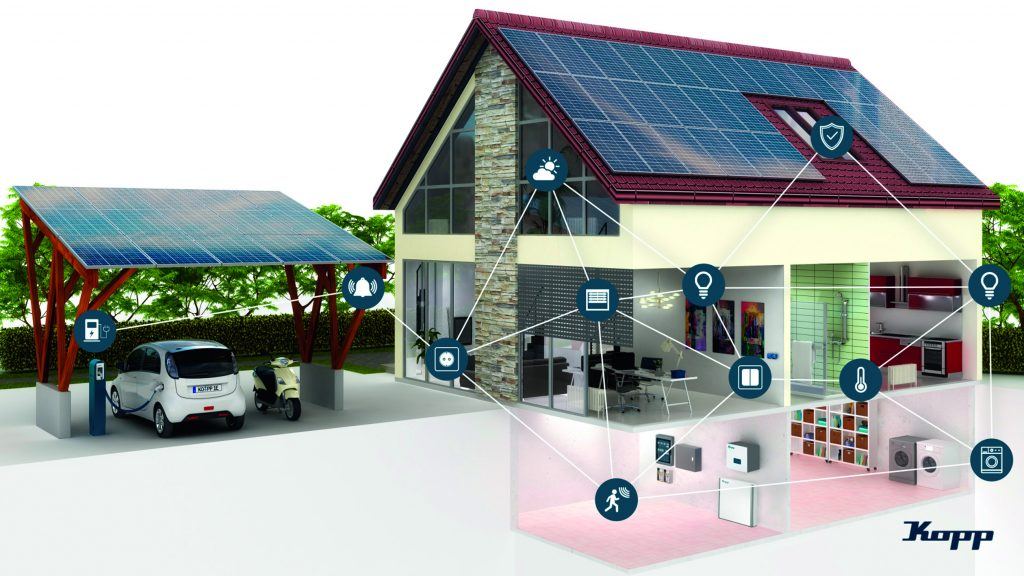 Blue-control von Kopp baut sich dank Bluetooth-Mesh-Technologie selbstständig auf und verfügt über eine sehr hohe Betriebssicherheit. (Bild: Heinrich Kopp GmbH)