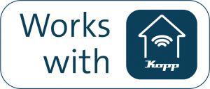 Alle mit dem System kompatiblen Produkte sind mit dem Logo 'Works with Kopp' versehen. (Bild: Heinrich Kopp GmbH)