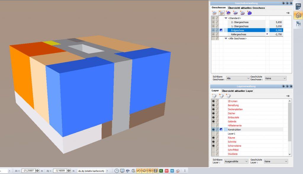 Gebäude planen und einfach nach DIN V 18599 zonieren (Bild: ZUB Systems GmbH)