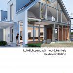 Broschüre: Luftdichte und wärmebrückenfreie Elektroinstallation