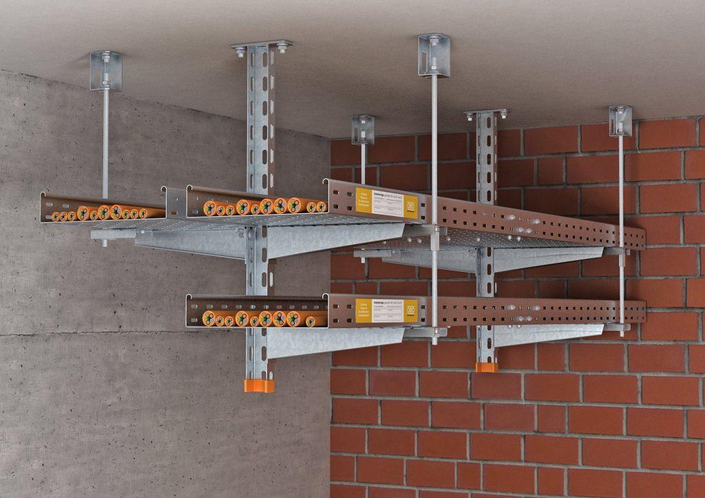 Kabelrinnenverlegung in der Normtragekonstruktion (Bild: OBO Bettermann Vertrieb Deutschland)