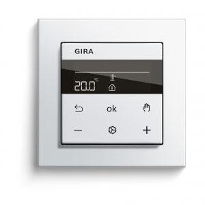 Auch Bauherren und Renovierer profitieren von den Vorteilen der neuen Heizungssteuerungsfunktion, etwa durch integrierte Standard-Zeitschaltuhren. (Bild: Gira)