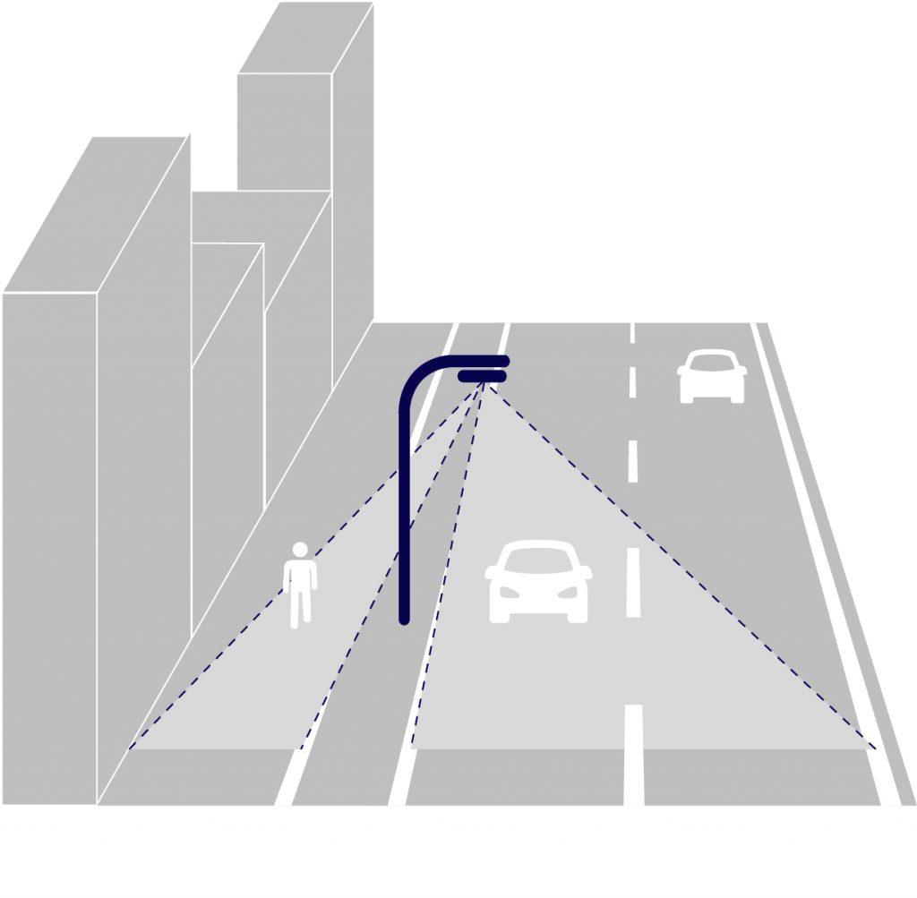 Light on demand: Durch die Integration von Sensoren passt SIDEREA die Beleuchtungsstärke automatische an die aktuelle Verkehrssituation an. (Bild: Tridonic GmbH & Co. KG)