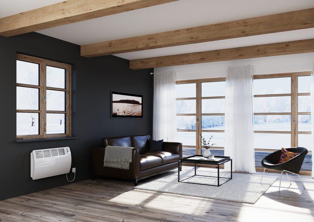 Beim Wandkonvektor mit leicht gewölbter Front sorgen Temperatursensoren für eine hohe Genauigkeit. (Bild: AEG Haustechnik GmbH)