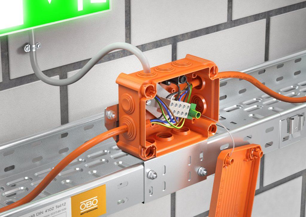 Sicher im Brandfall - die FireBox (Bild: Obo Bettermann Vertrieb Deutschland GmbH & Co. KG)