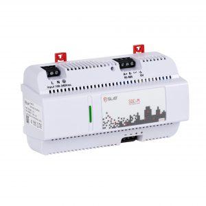 Die Mikro DC-USC SDC-M DMR RS sorgt für zuverlässige Energie und leitet Statusmeldungen an den Webserver weiter. (Bild: Slat GmbH)