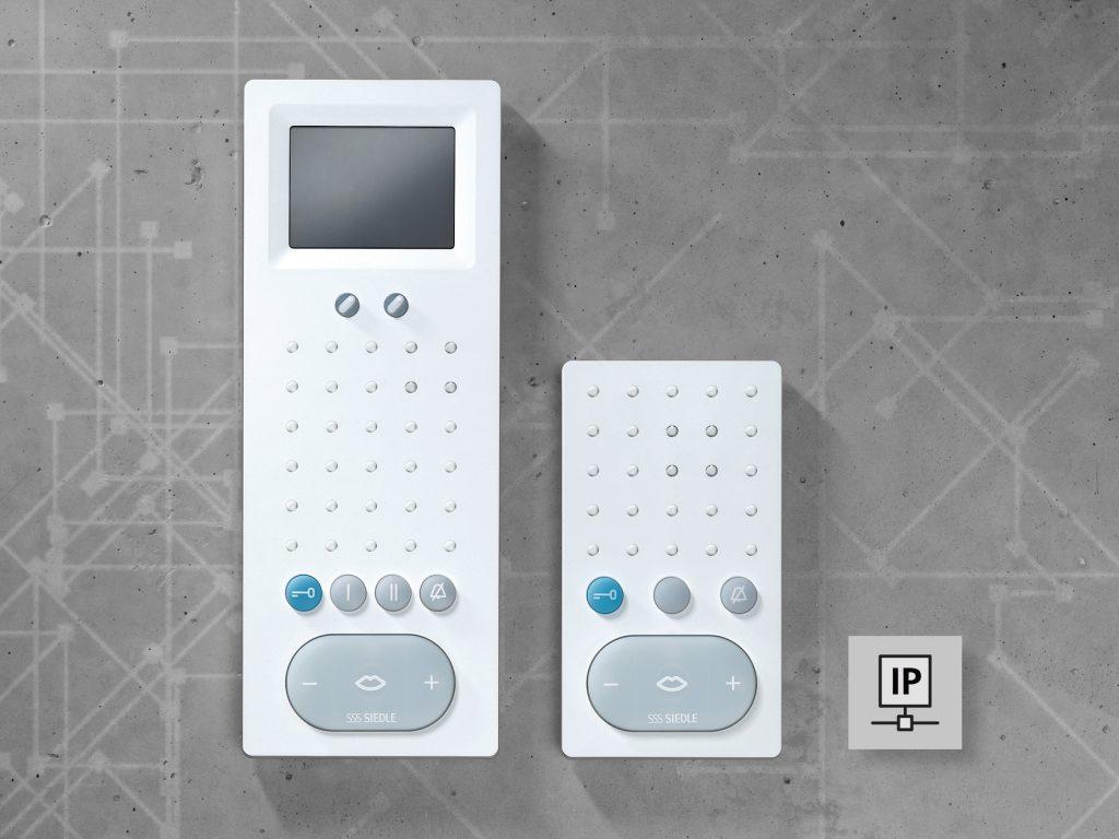 AFS 870-0 W Access Freisprechtelefon Standard und AFSV 870-0 W Access Freisprechtelefon Standard Video (Bild: S. Siedle & Söhne Telefon- und Telegrafenwerke OHG)
