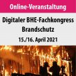 BHE-Fachkongress Brandschutz 2021 findet digital statt