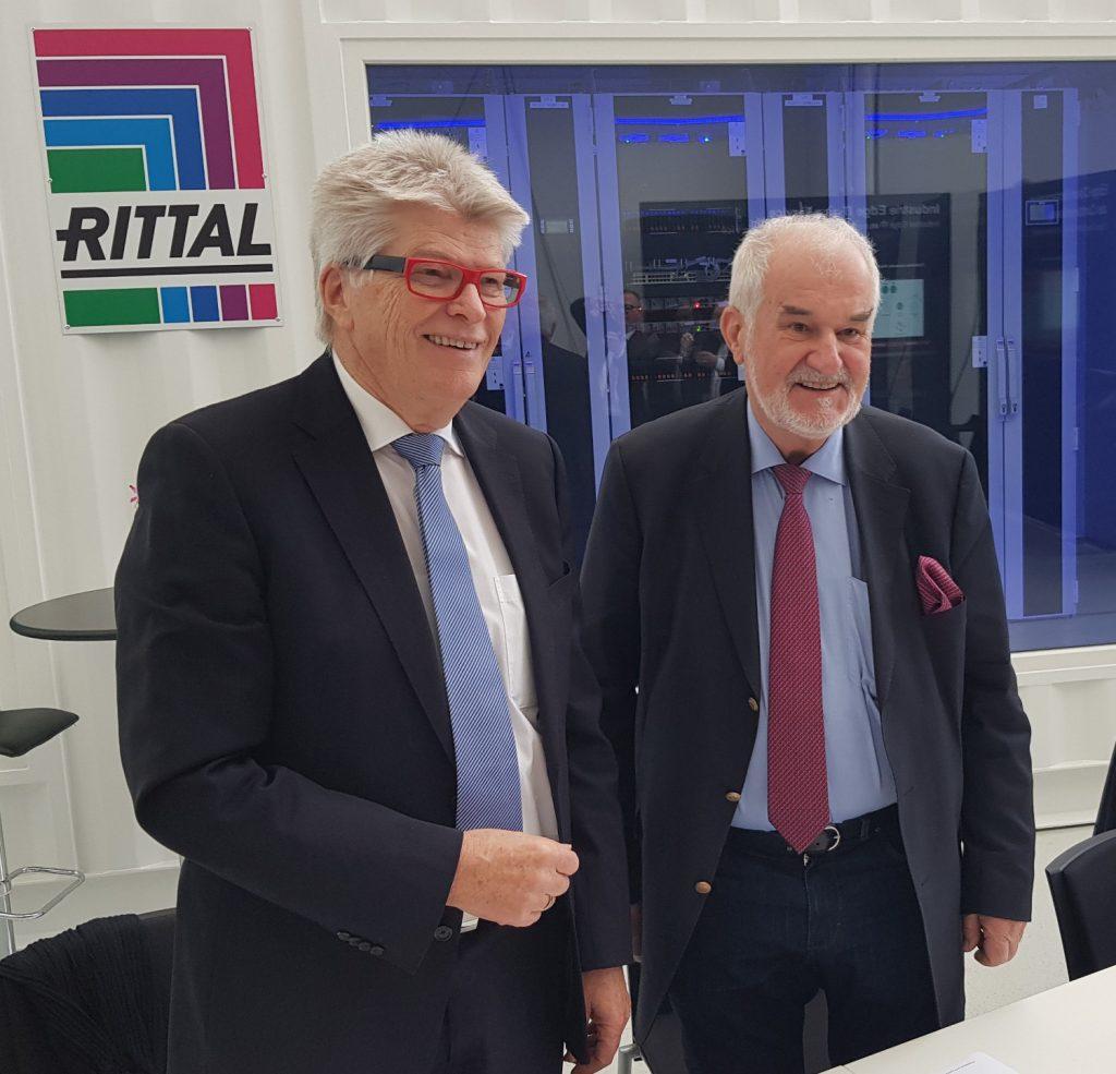 Prof. Friedhelm Loh (li.) und Jürgen Stulz: Rittal und Stulz kooperieren weltweit im Bereich passgenauer Rechenzentrums-Infrastrukturlösungen sowie Beratung und Service. (Foto: Frühjahr 2020). (Bild: Rittal GmbH & Co. KG)