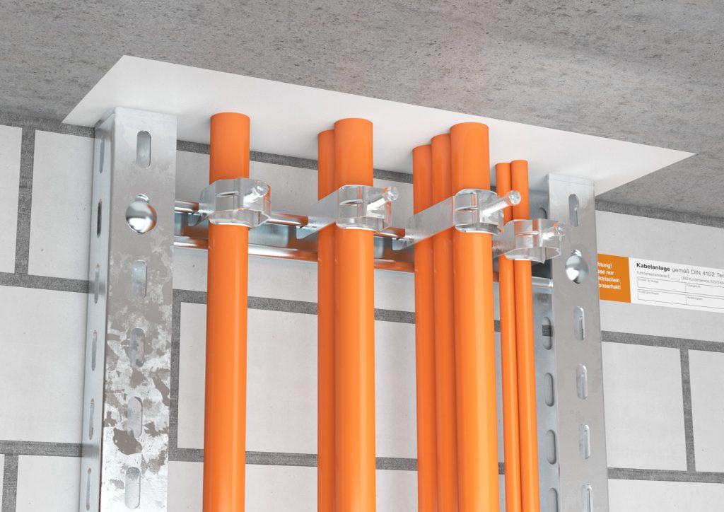 Kabelabschottung in einer Deckenöffnung (Bild: OBO Bettermann Vertrieb Deutschland)