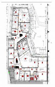Auszug aus der Musterplanung einer Kindertagesstätte gemäß allen Vorgaben der Norm DIN VDE V 0826-2. (Bild: Telenot Electronic GmbH)