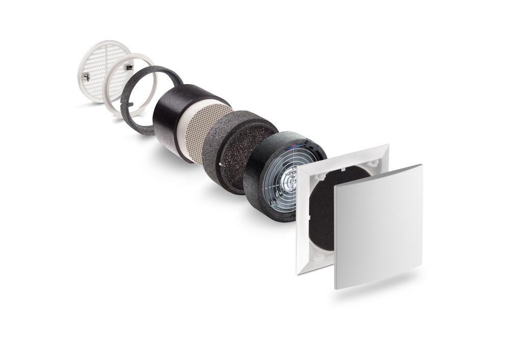 Neueste Fertigungsverfahren ermöglichen eine Verkleinerung essenzieller Bauteile, wodurch noch mehr Effizienz etwa in Form von Spezialfiltern und Schallschutzblenden im gesamten System untergerbacht werden kann. (Bild: Lunos Lüftungstechnik GmbH)
