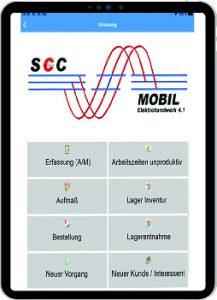Über die zugehörige App SCC-Mobil erhält der Anwender auf der Baustelle oder beim Kunden alle relevanten Informationen auf sein mobiles Endgerät. (Bild: Ziemer GmbH Elektrotechnik & Softwareentwicklung / TeDo-Verlag GmbH)