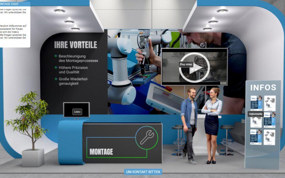 Virtuelle Cobot-Messe
