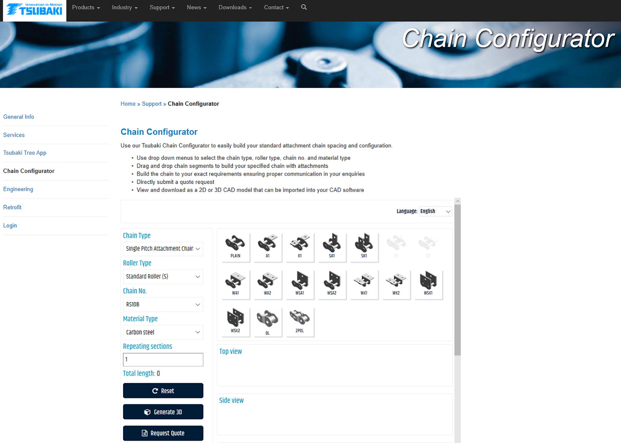 Online Ketten-Konfigurator