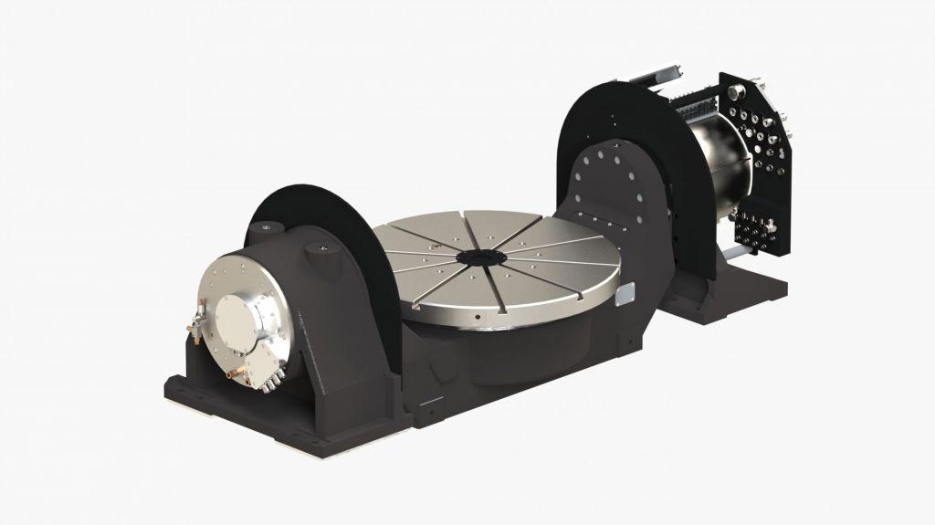 Konstant hohe Präzision über die gesamte Lebensdauer, gepaart mit kompakter Bauweise und hoher Wirtschaftlichkeit - dies zeichnet die neue 2-Achs-Schwenkeinrichtung ZASG 400 mit integriertem Galaxie-Getriebe des Präzisionsmaschinenbauers Peiseler aus.