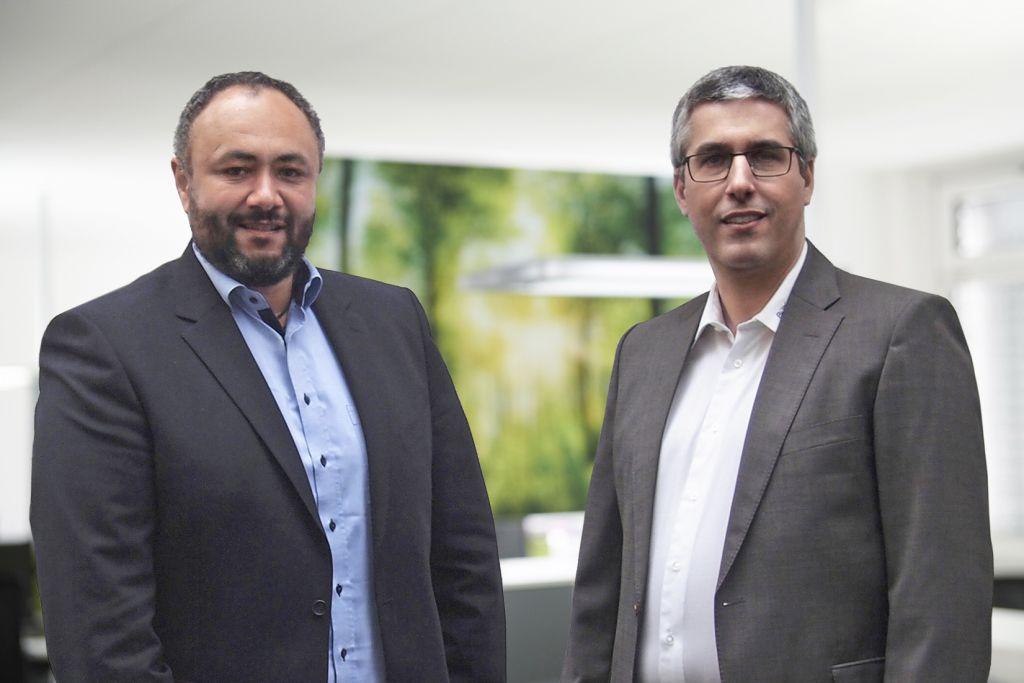V.l.n.r.: Matthias Bugla, Vice President Quality und Paulo Aguiar, Vice President Program Management.
