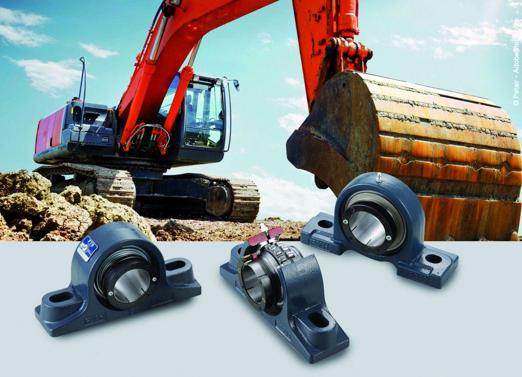 Findling Wälzlalger bietet hochspezialisierte Lösungen für die extremen Einsatzbedingungen in der Schwerindustrie, zum Beispiel in Baumaschinen.