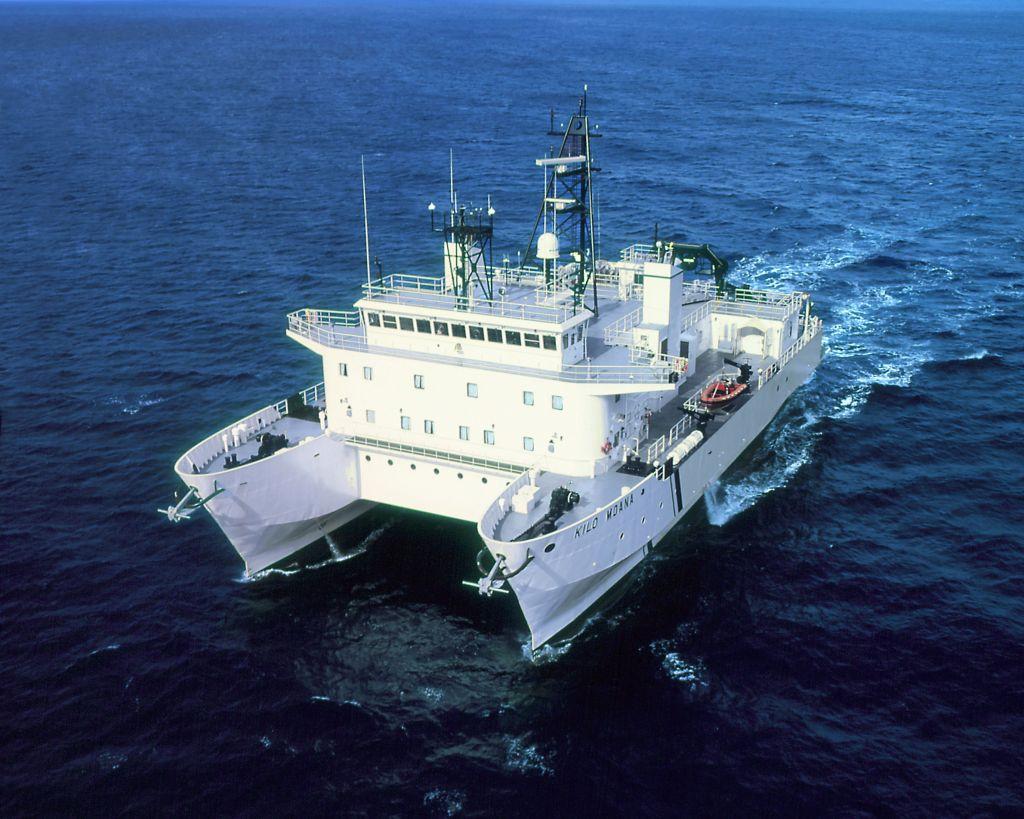 Die Winde des Forschungsschiffs kann durch den verbaute Umrichter 4m hohe Wellen ausgleichen.