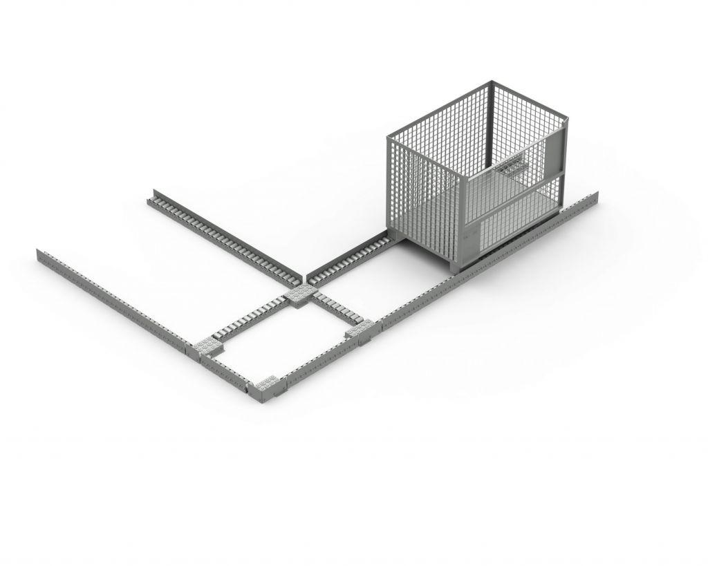 Die TORWEGGE GmbH & Co. KG hat kürzlich für einen Kunden den Prototyp eines Eckumsetzers mit Kugelrollen entwickelt