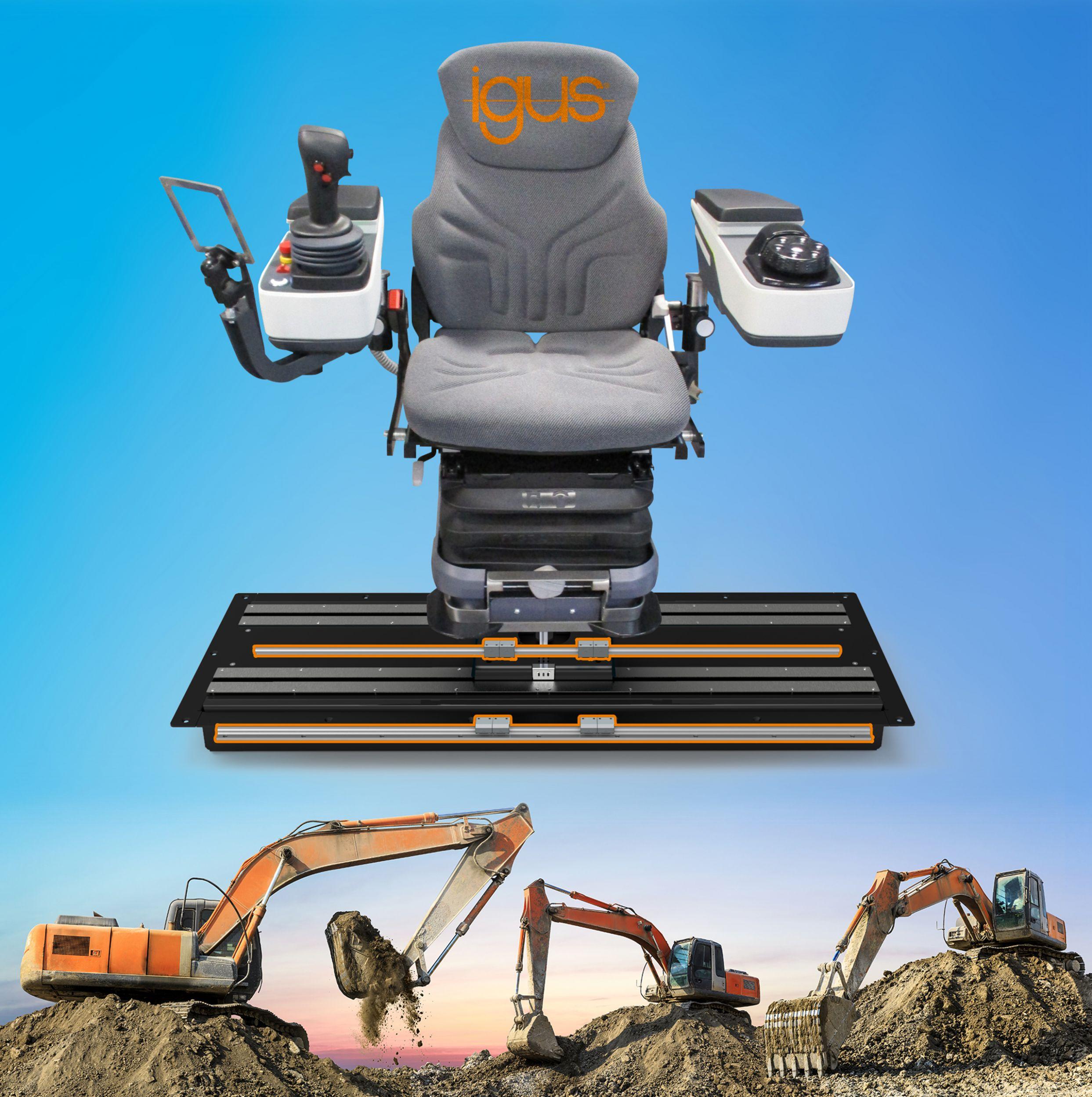 Freie Sicht in Baumaschinen dank Lineartechnik