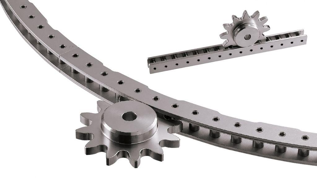 Beim TSUBAKI Triebstocksystem können Konstrukteure Raddurchmesser oder Triebstocklänge völlig frei wählen.
