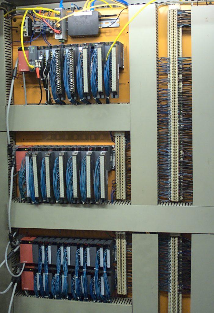 Die Verdrahtungsebene der alten SPS konnte beim Retrofit übernommen werden.