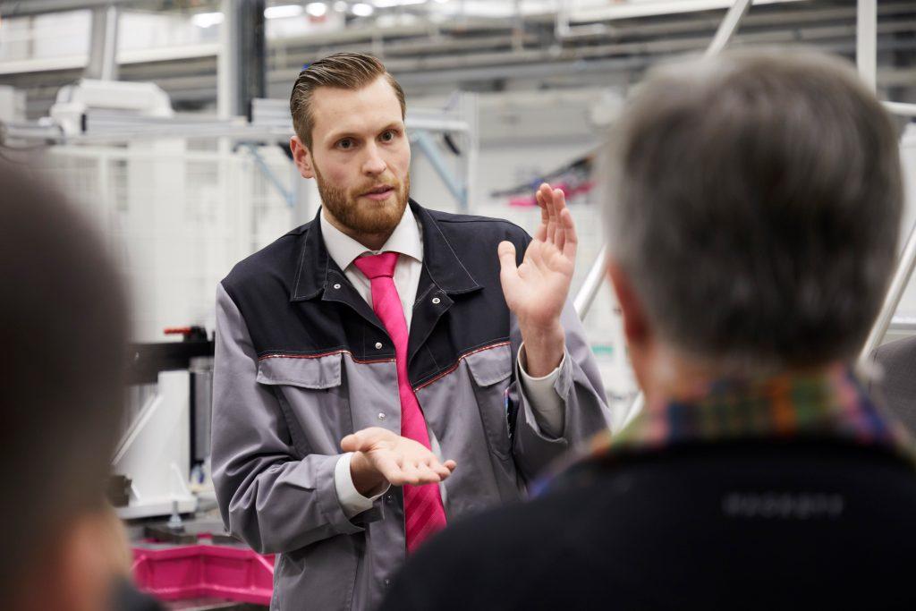 Moritz Heide, Leiter Systeminstandhaltung und Arbeitsvorbereitung im Rittal Werk Haiger