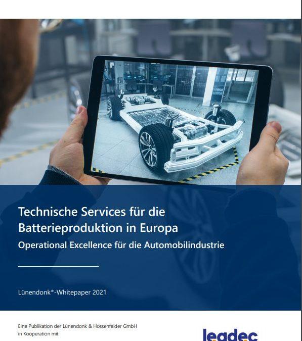 Lünendonk veröffentlicht Whitepaper zu technischen Industrieservices