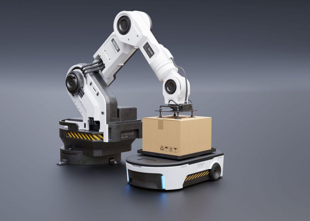 Heute können Cobots sensitiv ihre Umgebung mit einberechnen, AGVs werden  immer flexibler und damit produktiver.