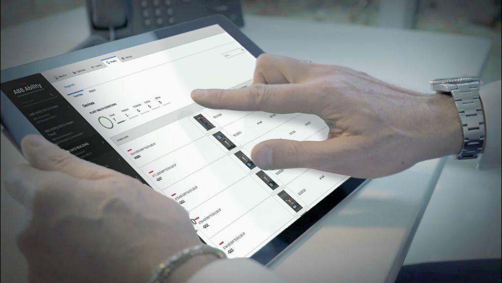 Die Plattform ABB Ability Energy and Asset Manager von ABB kann unter anderem vom Tablet aus bedient werden.