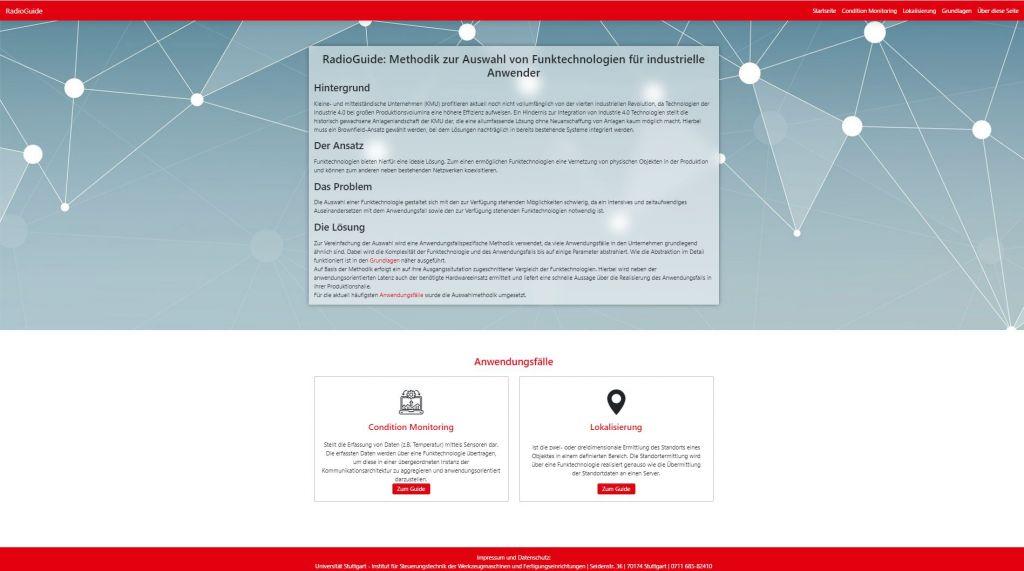 Die Parametrierung und Auswertung bei der Lokalisierung erfolgt über eine Web-Applikation.
