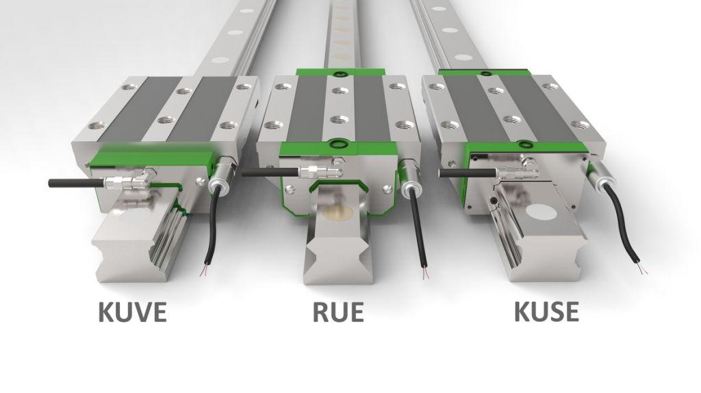 Schaeffler DuraSense wird optional für die Profilschienenführungen der Baureihen Kuve, Rue und Kuse angeboten.