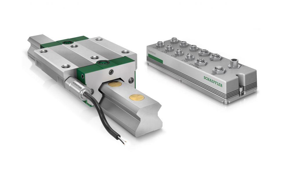 Die Auswerteelektronik ermittelt und überwacht die Schmierkennwerte der angeschlossenen Linearführungen. Neu ist eine Schnittstelle, die den Zugang zu den Rohdaten der Schwingungssensoren ermöglicht.
