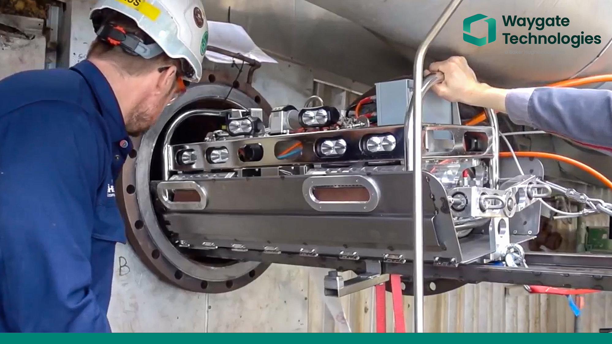 Robotergesteuerter Inspektions- und Reinigungs-Service
