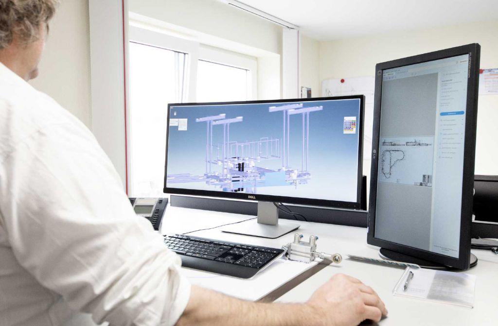 CAD-Planung erleichtert modernen Anlagenbau, doch  auch die Realumgebung muss berücksichtigt werden.