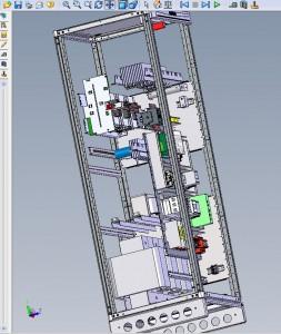 3D-Aufbau einer Gleichstromversorgung (Bild: Benning)