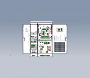 Schaltschrankdarstellung mit 3D-Daten einer unterbrechungsfreien Stromversorgung (Bild: Benning)