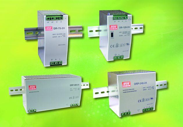 Mean Well-Serie DR, 75 bis 480 Watt (Bild: Emtron electronic GmbH)