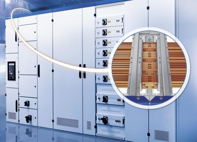 Die Ausführung Busbar Top ist eine neue patentierte Open Frame Rahmenstruktur, damit die Schienen ohne Entfernen von Geräten leicht zugänglich sind. (Bild: Eaton Electric GmbH)