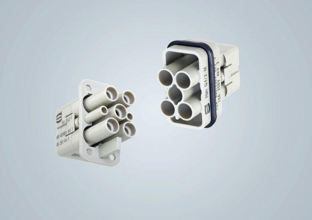 Kabelset mit Han 24 E Steckverbindern, eine der UL508-konformen Lösungen von  Harting für die Übertragung von Leistung und Signalen. (Bild: Harting Electric GmbH & Co. KG)