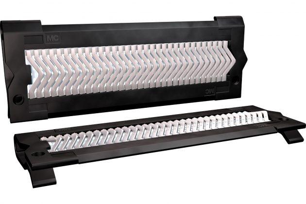 Cliplam CL-T gibt es in sieben Größen: Gehalten von einem Kunststoffrahmen sieht man das Band mit den Kontaktlamellen. (Bild: Multi-Contact Deutschland GmbH)