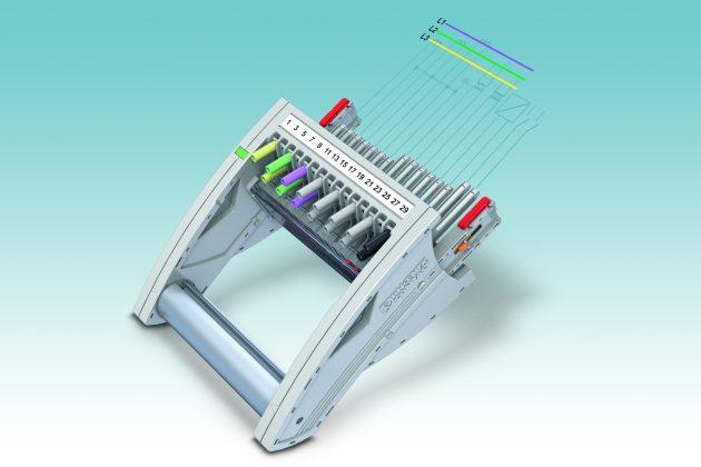 Unterschiedlich lange Schaltzungen ermöglichen im modularen Prüfstecksystem Fame beliebige Schaltfolgen. (Bild: Phoenix Contact GmbH & Co. KG)